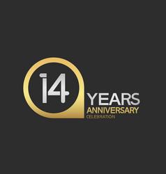 14 years anniversary celebration simple design vector