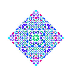 Abstract geometrical colorful ornate stone square vector