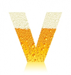 alphabet beer v vector image