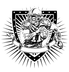 american football shield vector image