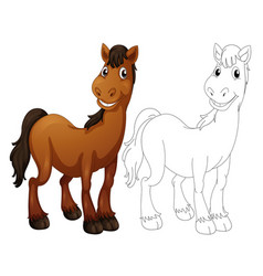 animal outline for horse vector image