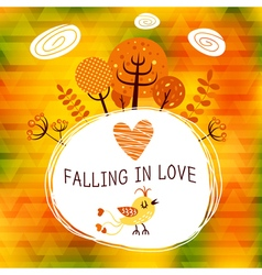 Autumn Falling In Love vector image