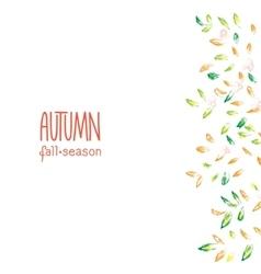 Autumn hand drawn background vector