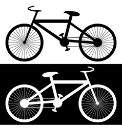 Background with bikes vector image
