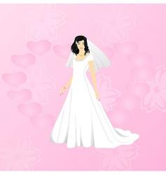beauty bride vector image