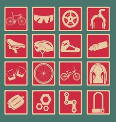 Bicycle Icon Set Basic Style vector image
