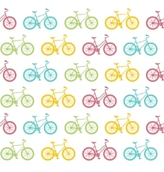 Bike Seamless Pattern White vector image