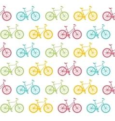 bike seamless pattern white vector image
