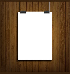 Blank white paper sheet template vector