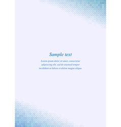 Blue page corner design template invitation vector