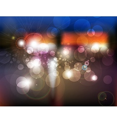 Blurred City Lights Background vector