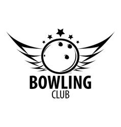 Bowling emblems labels badges and designed vector image