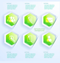 business infographic abstract concept vector image
