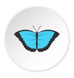 Butterfly with big wings icon circle vector