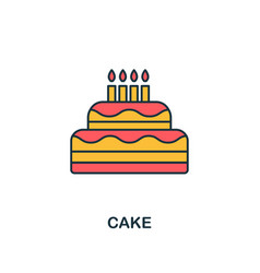 cake icon creative 2 colors design fromcake icon vector image