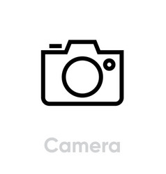 camera icon editable outline vector image