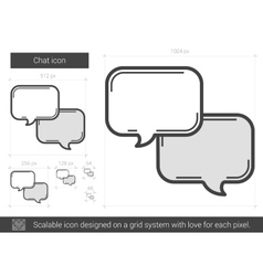Chat line icon vector