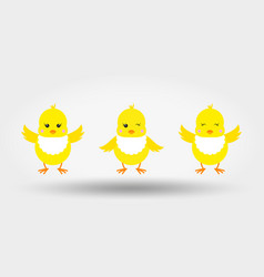 chicks in bib icon flat vector image