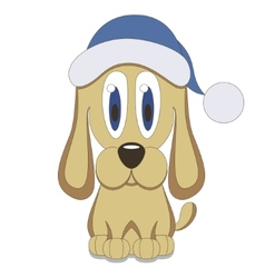 Christmas Dog vector
