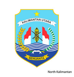 Coat arms north kalimantan is a indonesian vector