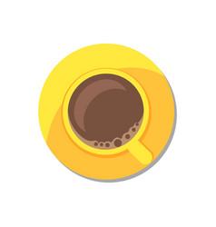Coffee in golden tableware vector