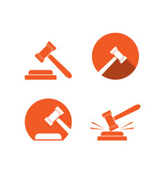 Collection of attorney at law logo and icon vector