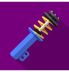 Colorful shock absorber icon in modern flat style vector