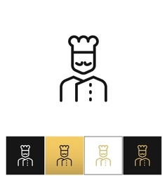 Cook line icon vector