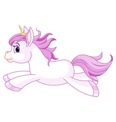 Cute horse princess running vector