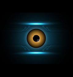 Cyber security safety concept watching eye vector