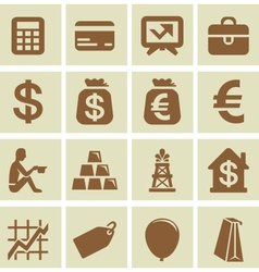 design elements for finance and economy vector image