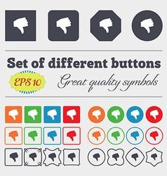 Dislike Thumb down icon sign Big set of colorful vector