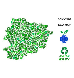 ecology green mosaic andorra map vector image