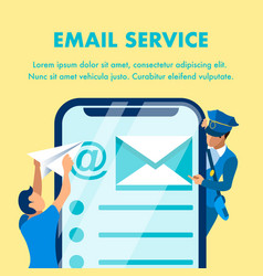 email marketing service banner template vector image