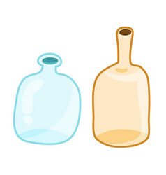 empty bottles isolated vector image