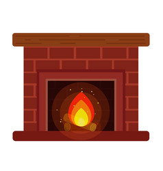 fireplace with a shelf and firewood vector image