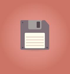 floppy disk icon in retro style vector image