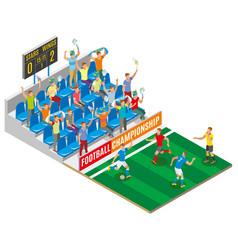 football championship isometric composition vector image