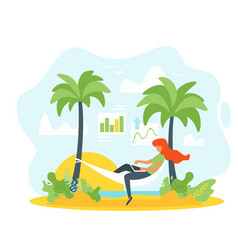 freelance and remote work vector image