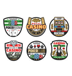 gamble games casino poker cards and dice vector image