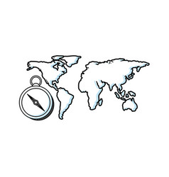 geography education line icon vector image