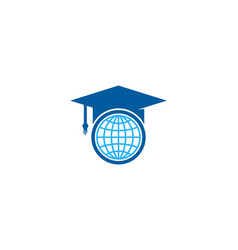 globe education logo icon design vector image