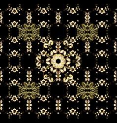 Golden snowflake simple seamless pattern golden vector
