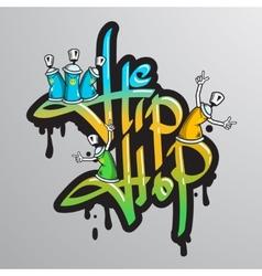 Graffiti word characters print vector image
