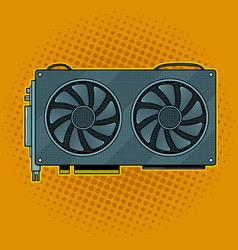Graphics card pop art vector