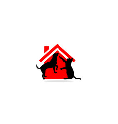 home pet animal logo vector image