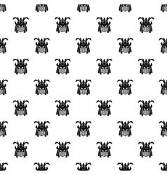 Japanese samurai mask pattern simple style vector