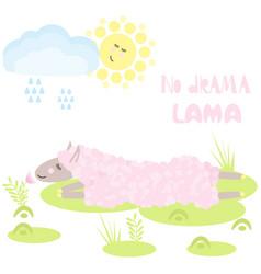 lama no drama vector image