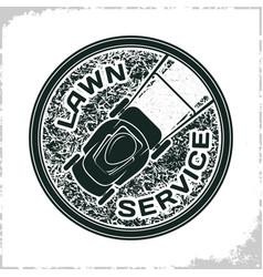 Lawn service logo vector