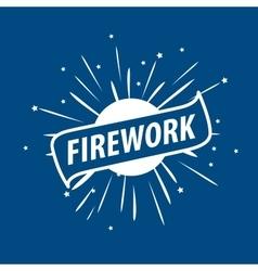 Logo for fireworks vector